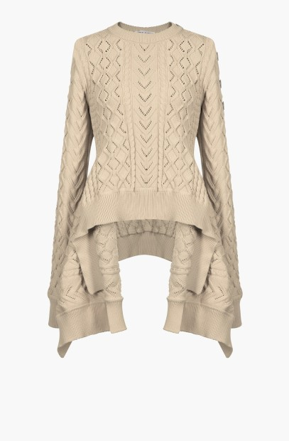 Sonia Rykiel Aran knit sweater with Basque hemline