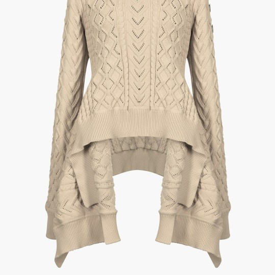 Sonia Rykiel Aran knit sweater with Basque hemline