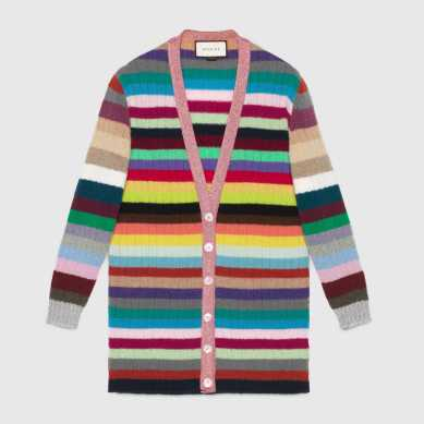 Gucci Oversize Striped Cashmere Knitted cardigan
