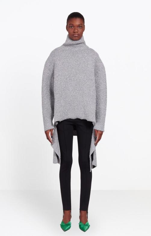 Balenciaga Lurex Draped Sweater