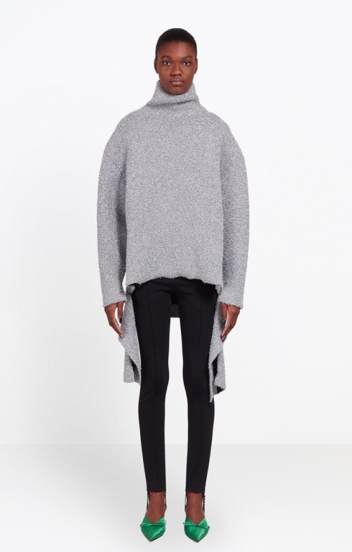 Balenciaga Lurex Draped Sweater