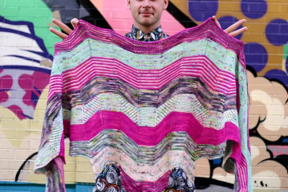 Building Blocks Shawl by Stephen West