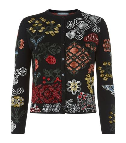 Alexander McQueen Samplers Embroidered Cardigan