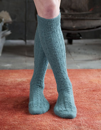 Alpaca Sox Long Socks by Catherine Shumadine