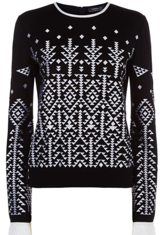 Andrew Gn Flared Sleeve Embroidered Sweater