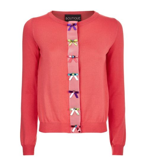 Boutique Moschino Bow Detail Cardigan