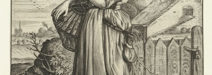 17th century image of woman.