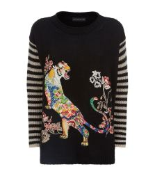 Etro Embroidered Tiger Motif Sweater