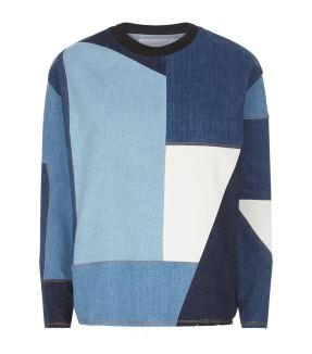 Victoria Beckham Denim Patchwork Sweater