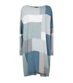 Eskandar Square Patch Cashmere Tunic Sweater