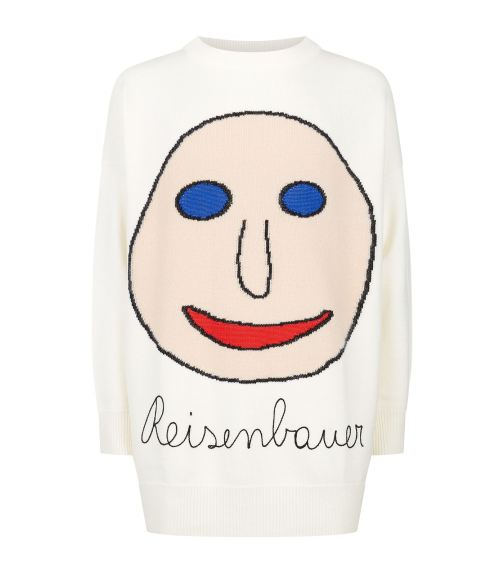 Christopher Kane Menswear Intarsia Face Jumper