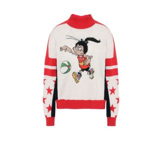 Stella McCartney The Dandy Print Turtle Neck Jumper