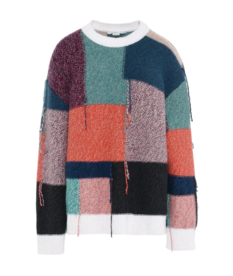 Stella McCartney Patchwork Round Neck Jumper