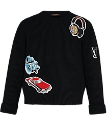 Louis Vuitton Sweater with Embroidered Stickers