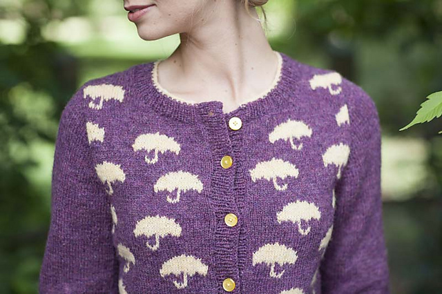 Pluie Cardigan by Alex Capshaw-Taylor. Photo copyright Interweave Press.