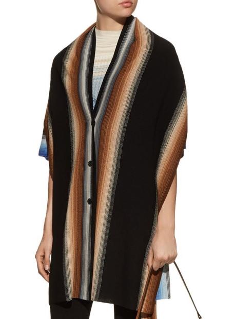 Missoni Striped Wool Long Cardigan