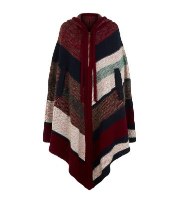 Chloe Colour Block Tweed Poncho