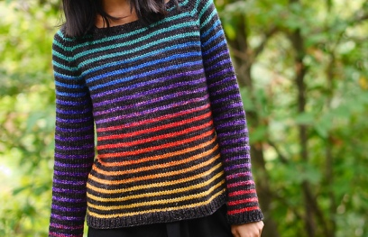 Rainbow Trail by Christina Ghirlanda. Photo copyright Minimi Knit Designs.