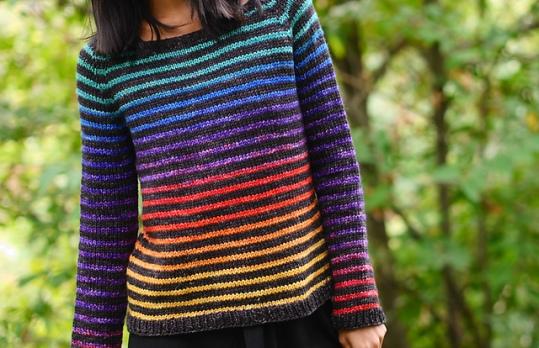 Rainbow Trail by Christina Ghirlanda. Photo copyright Minimi Knit Designs.
