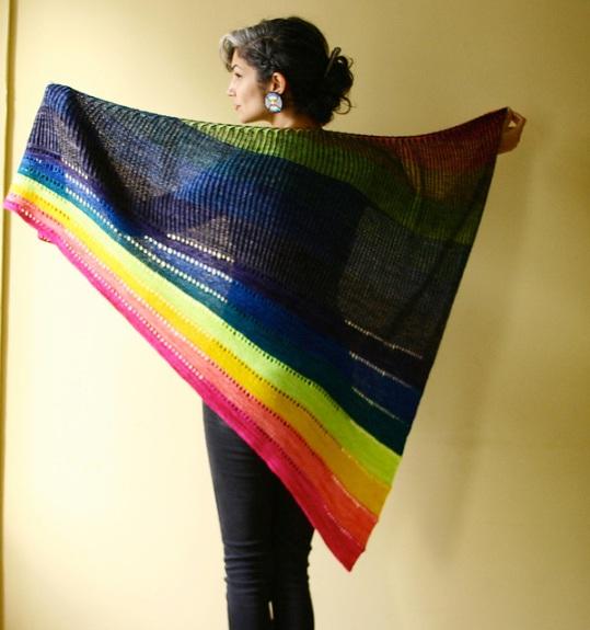 Rainbow Bridge Wrap by Lavanya Patricella