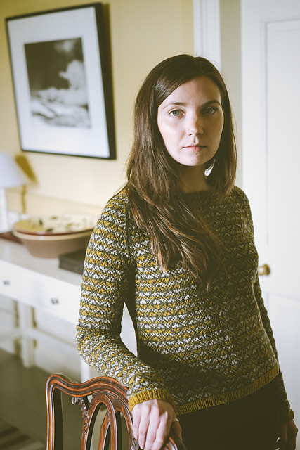Fair Isle stranded jumper/sweater in green,