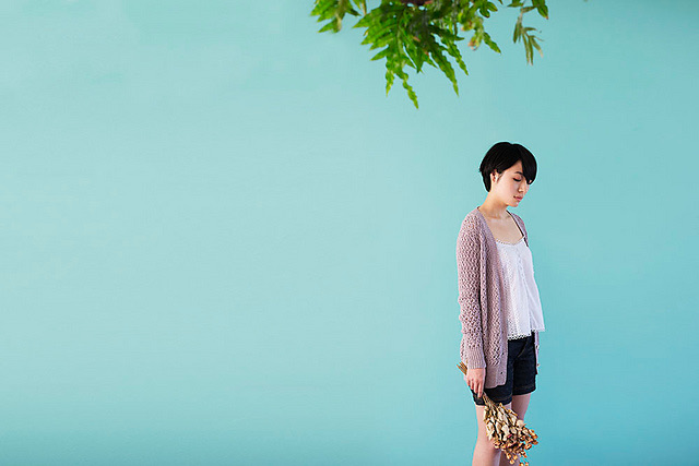Long, all-over lace cardigan. Perfect for summer.
