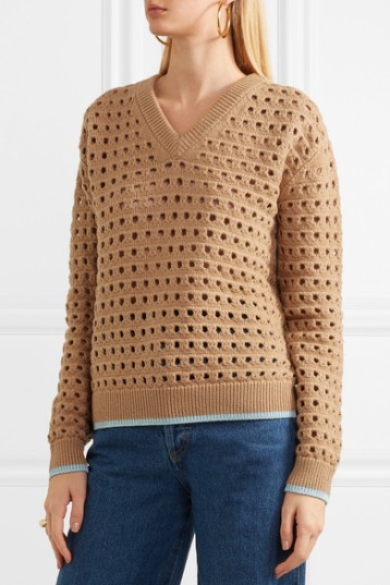 Eyelet lace sweater by Victoria Beckham
