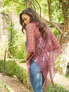 Beautiful lace shawl. Birch by Sharon Miller. Rowan yarn. Summer knitting pattern. Lace shawl.