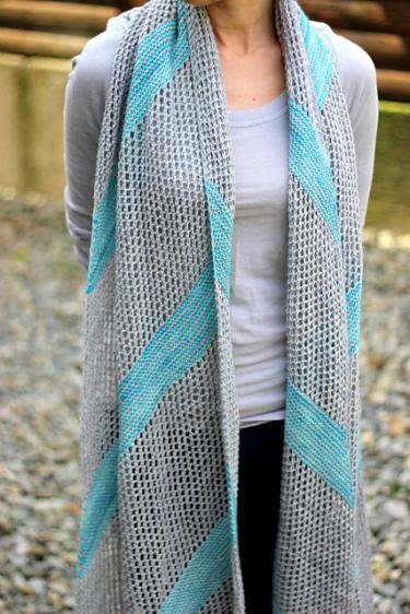 summer shawl knitting pattern- cotton bamboo