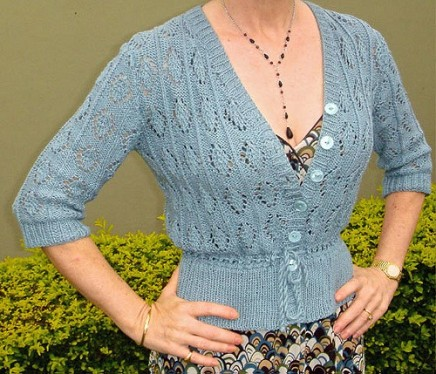 vintage style lace cardigan. knitting pattern. summer knitting.