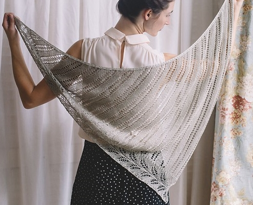 Reed Quince shawl lace linen summer