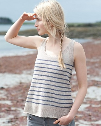 Saco Stripes tank-top summer linen