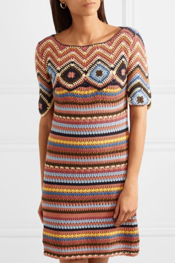 See by Chloe Crocheted Cotton Mini Dress (from net-a-porter)