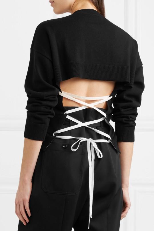 Jil Sander Open back lace-up cashmere sweater (from net-a-porter)