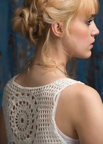 Crochet pattern: Mandala Vest Top by Simone Francis.