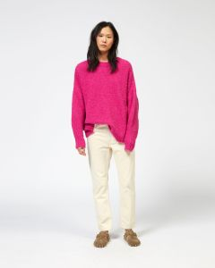 Pink, oversized, slouchy sweater from Isabel Marant.