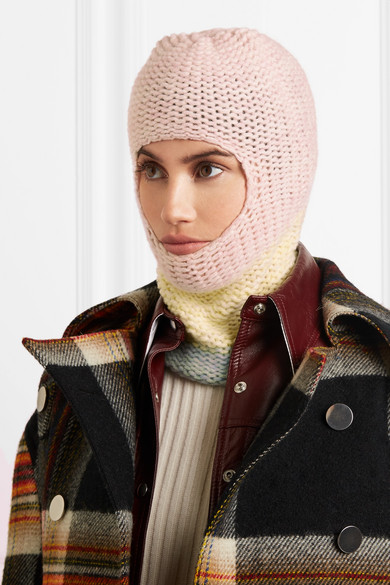 Knitted colour-block balaclava by Calvin Klein 205W39NYC, from net-a-porter.com.
