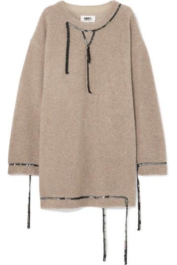 MM6 Maison Margiela Oversized Sequin Embellished Wool Blend Bouche Mini Dress (from net-a-porter.com)
