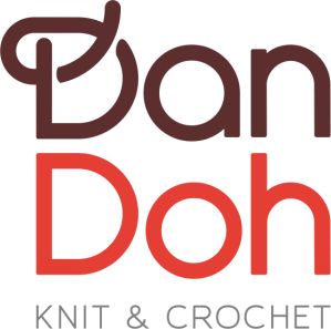 Logo for Dan Doh website, knit and crochet designs and yarn by Yumiko Alexander.
